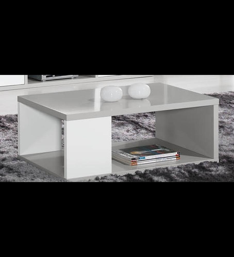 Mesa Centro Viena Cinza Branco