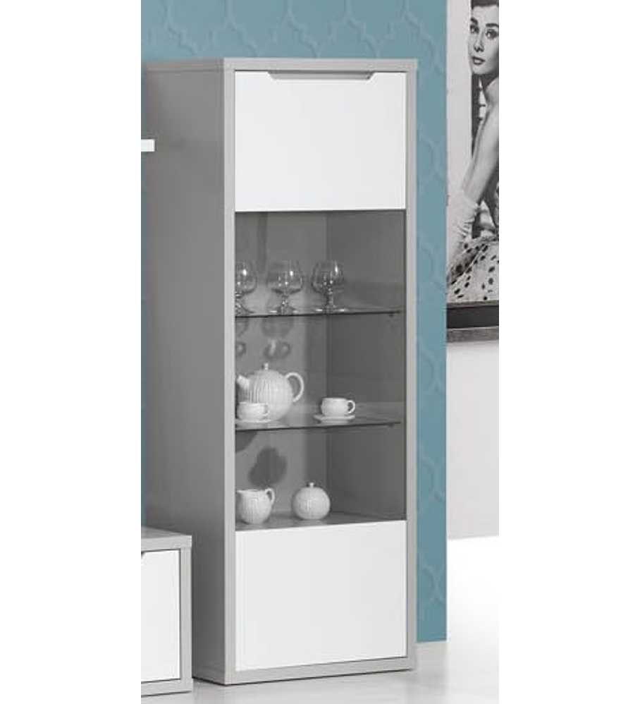 Cristaleira Viena Cinza Branco