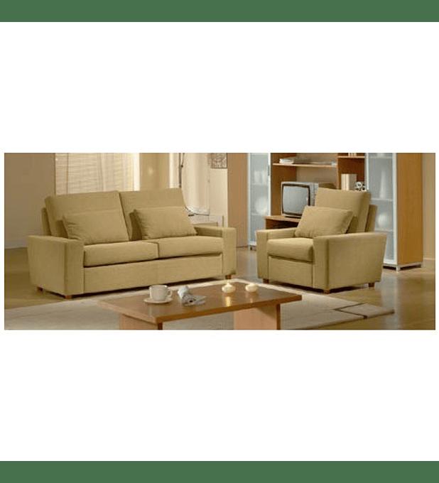Sofá 3 Lugares com Cama+2 Maples+Almofadas Luna