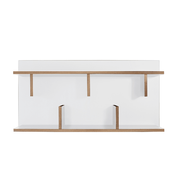 Prateleira Bern 90 Branco Plywood