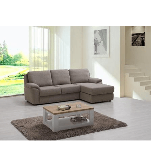 Sofá Mistik 3 Lugares e Chaise