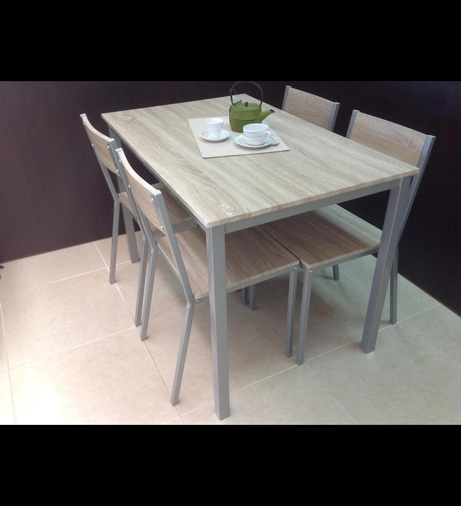 Conjunto Mesa + 4 Cadeiras House