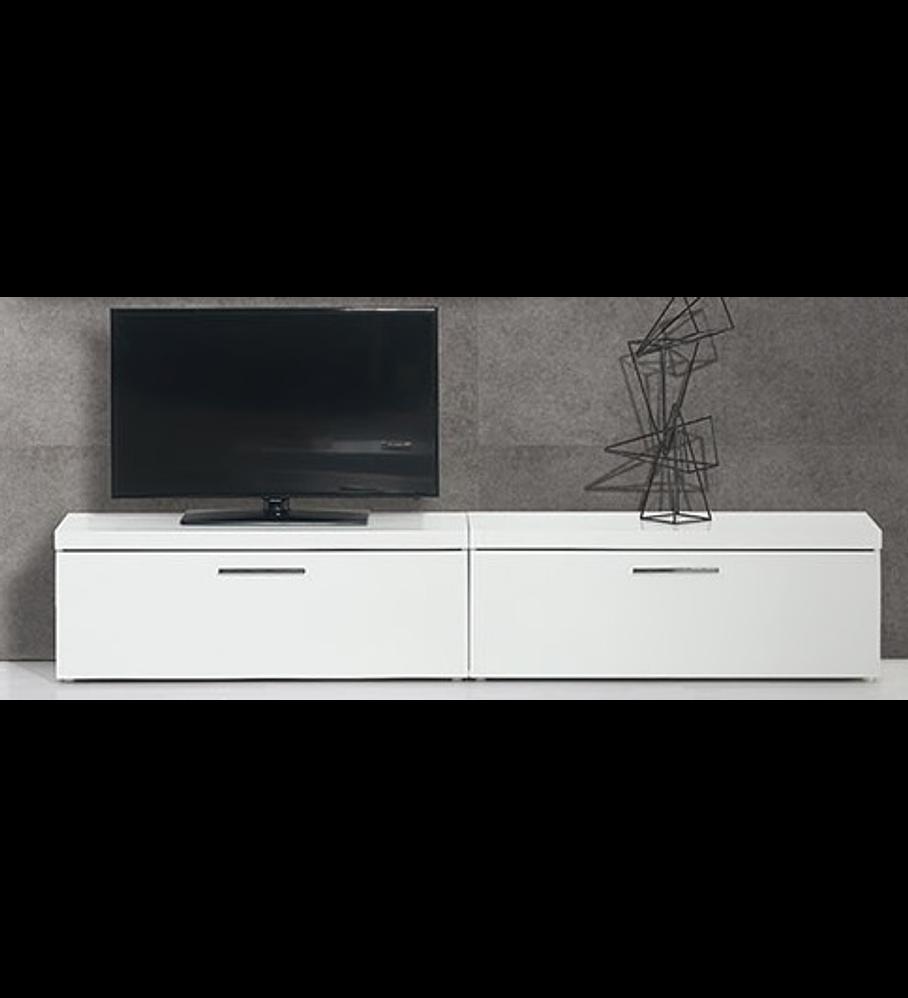 Base TV Mónaco Branco 120cm e 1 Gaveta
