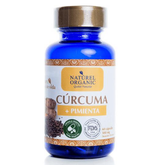 Cúrcuma+ Pimienta orgánica 60cap.vegetales