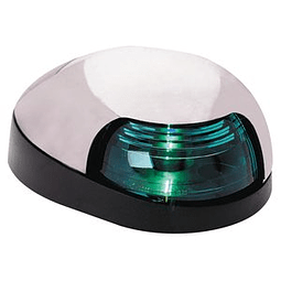 Luz de navegação verde cromada