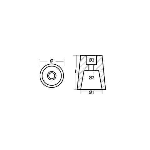 Zinco radice 22-25 mm