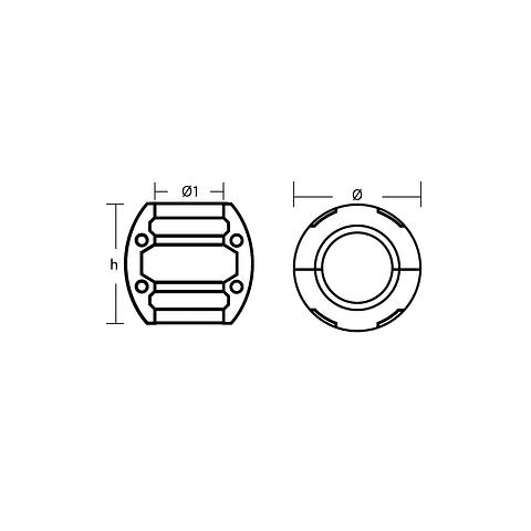 Zinco barril 60 mm