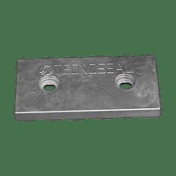 Zinco retangular para placa de casco