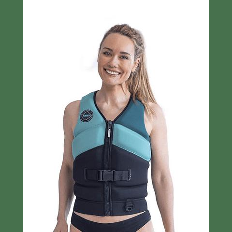Jobe Unify colete salva-vidas feminino vintage azul-petróleo