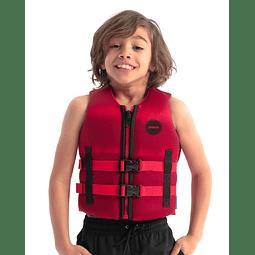 Jobe colete salva-vidas Neoprene infantil vermelho