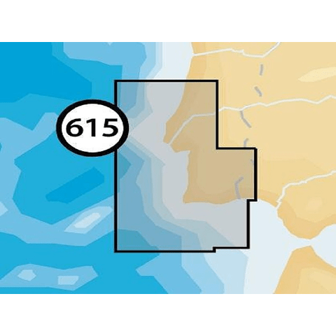 Carta Navionics+ Small 5G615S2 - PORTUGAL SUL (Cabo Mondego-Ilha Cristina)
