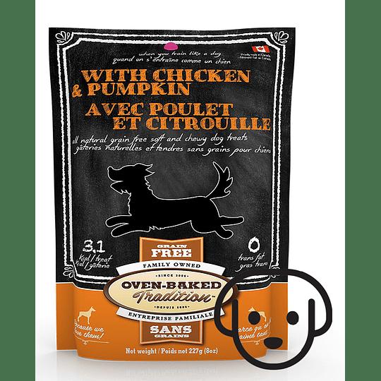 Snack de Pollo y Calabaza para Perros