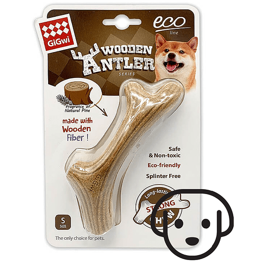 Wooden Antler Chew Bone