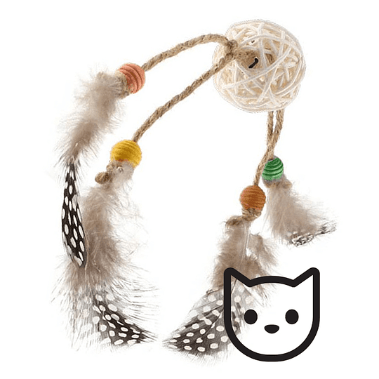 Eco Catch & Scratch Rattan y Plumas