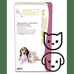 Revolution 6% (Perros y Gatos hasta 2,5 Kg)