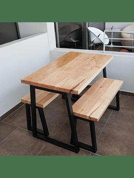 Mesa Trapecio Invertido y Banquetas
