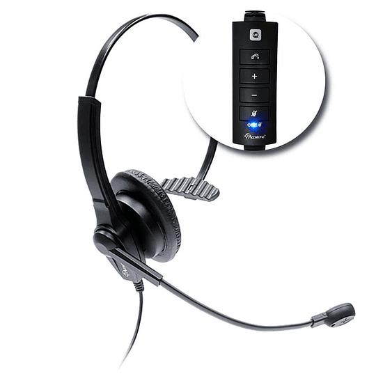 CINTILLO TELEFONICO USB MONOAURAL USO RUDO ACCUTONE UM610-UC