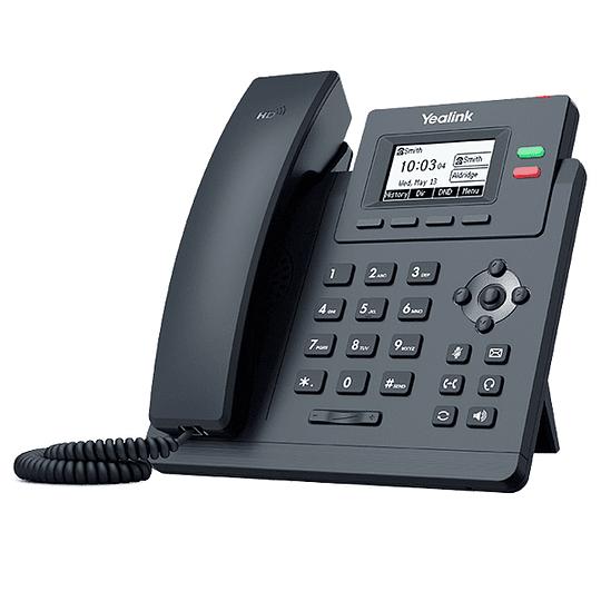 YEALINK T31P - Teléfono IP básico con 2 líneas y voz HD