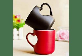 Caneca de café cor-em mudança mágica