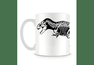 Taza blanca de T-Rex