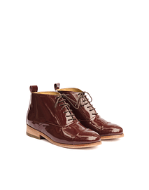 Botin oxford burdeo charol