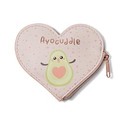 Monederos en forma de corazón, aguacate