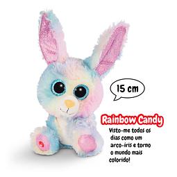 Coelho Rainbow Candy, Peluche de 15cm