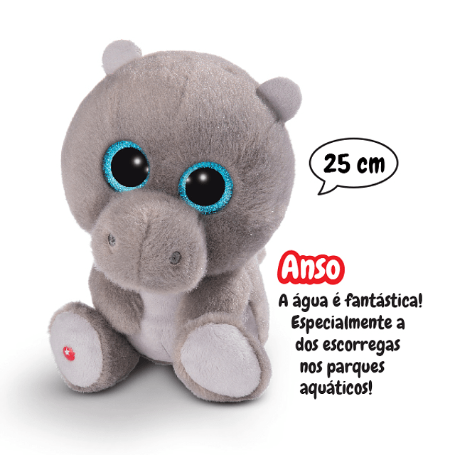 Hippopotamus Anso, 25cm Plush