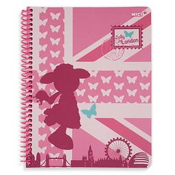 Cuaderno con espiral alegre en Londres