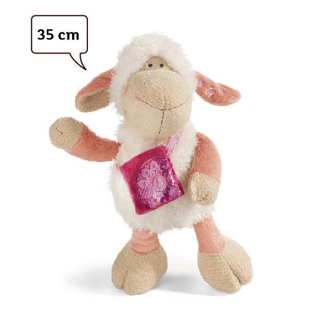 Jolly Mellow Sheep with Shoulder Bag, 25cm Plush