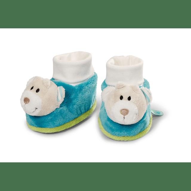 Pantufas de Bebé com Chocalho Urso