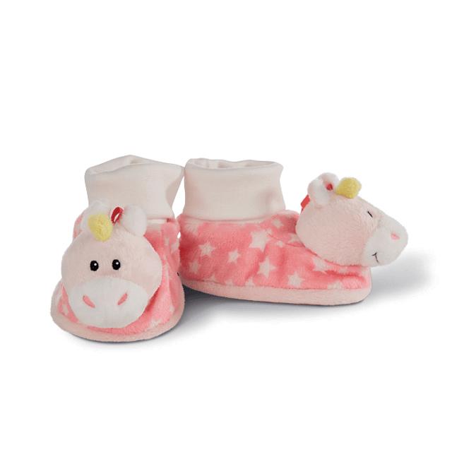Pantufas de Bebé com Chocalho Unicórnio Stupsi