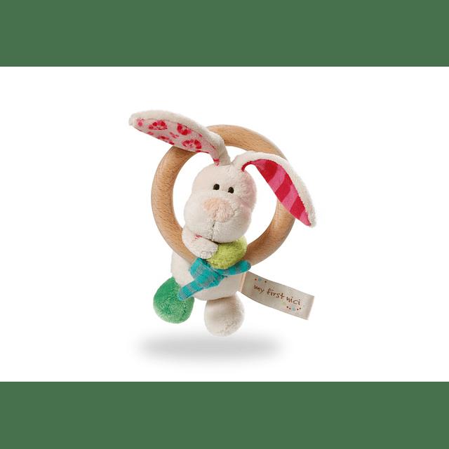 Peluche Conejo Tilli con Anillo de Madera
