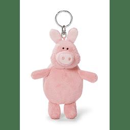 Porta-Chaves Porco Com Saco de Compras