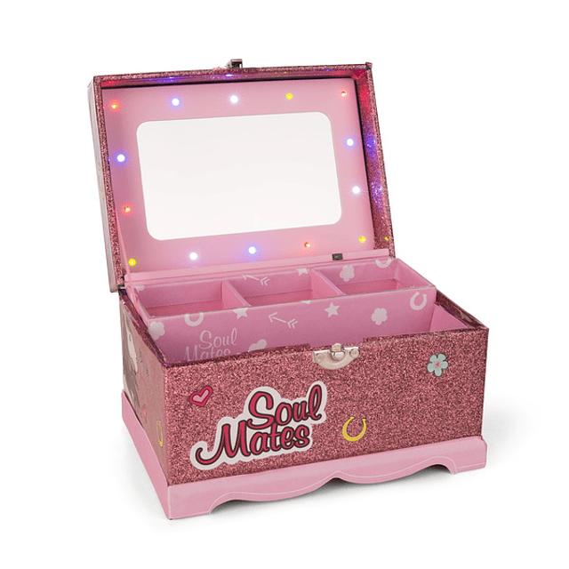Joyero Soulmates con LED y espejo en el interior