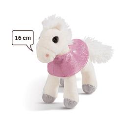 Cavalo Mustang Branco, Peluche de 16cm