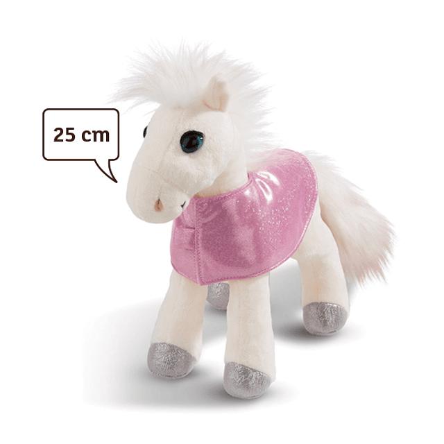 Caballo Mustang Blanco, Peluche 25cm