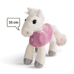 Cavalo Mustang Branco, Peluche de 35cm
