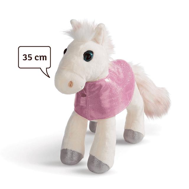 White Mustang Horse, 35cm Plush