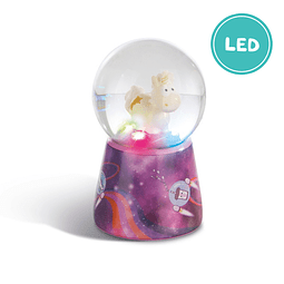 Unicorn Falling Star Water Globe With LED