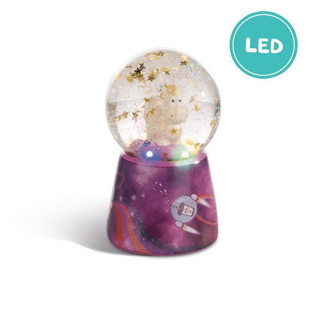 Globo de Água Unicórnio Estrela-Cadente Com LED