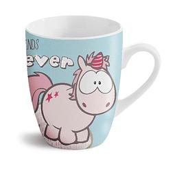 """Taza de unicornio podría soñar, """"Friends Forever"""""""