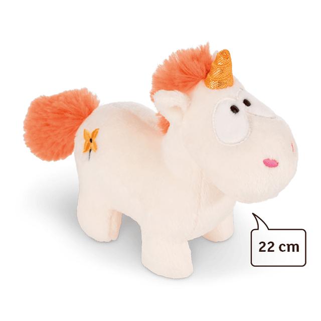 Unicornio Naranja, Peluche 22cm