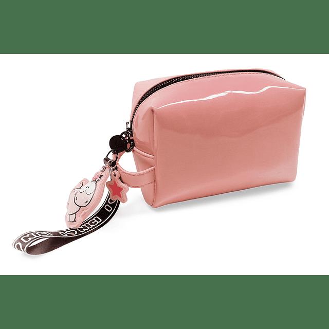 Bolsa de Cosmética Com Porta-Chaves