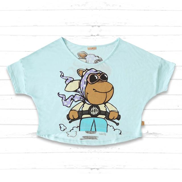 T-Shirt Mulher Jolly Liselle Viaja de Moto