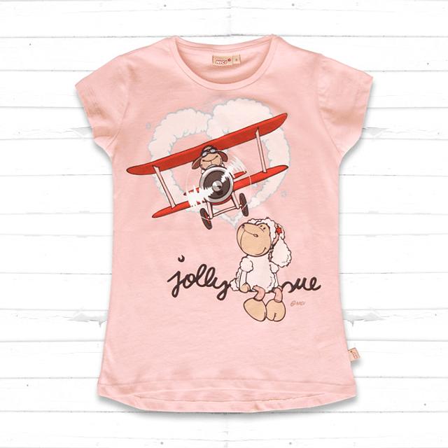 T-Shirt Criança Rosa Jolly Sue