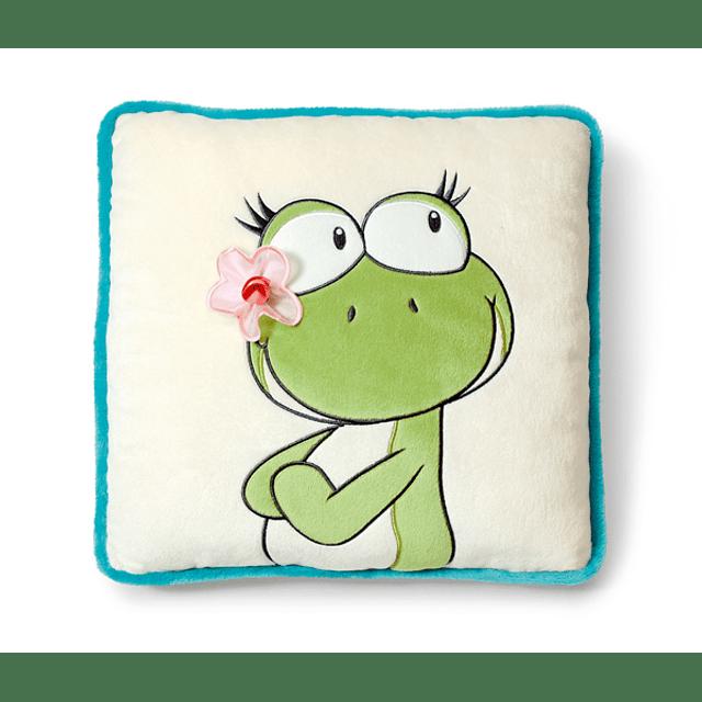 Cojín cuadrado Frog Lilly