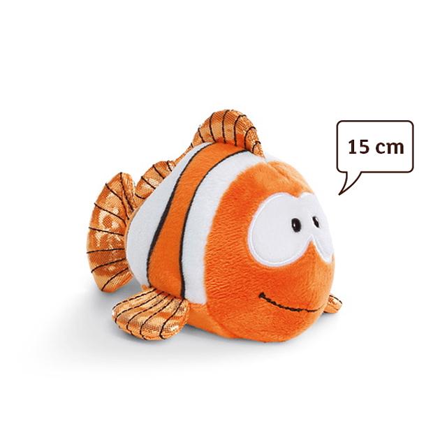 Pez payaso Claus-Fisch, peluche de 15 cm
