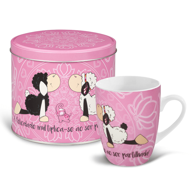 """Mug & Tin """"La felicidad se multiplica cuando se comparte"""""""