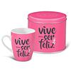 "Mug & Tin ""Live To Be Happy"""